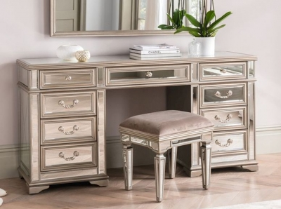 Vida Living Jessica Champagne Mirrored Dressing Table