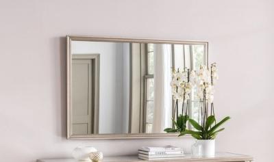 Vida Living Jessica Taupe Rectangular Wall Mirror