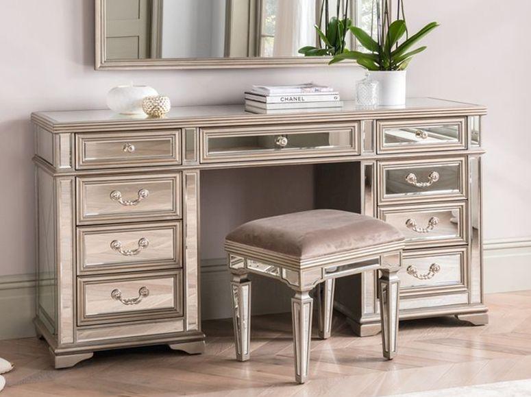 Vida Living Jessica Champagne Mirrored Dressing Table