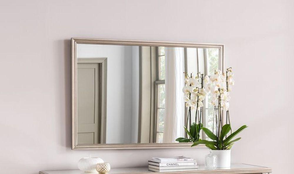 Vida Living Jessica Rectangular Wall Mirror - Taupe 120cm x 80cm