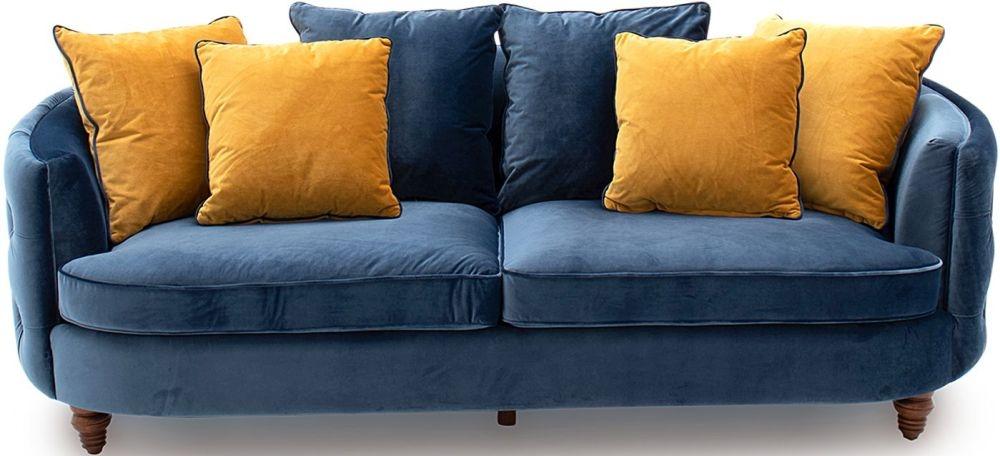 Vida Living Jools Blue Velvet Sofa