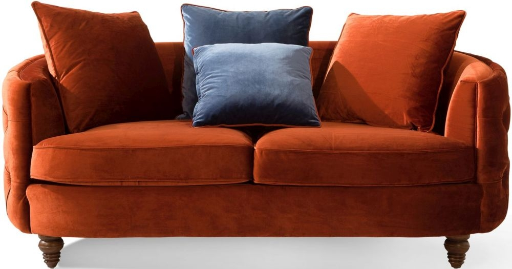 Vida Living Jools Copper Velvet Sofa