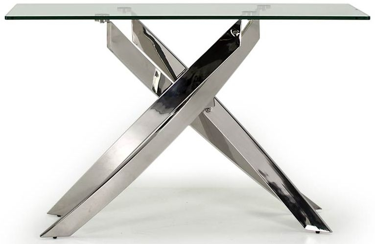 Vida Living Kalmar Glass Top Console Table