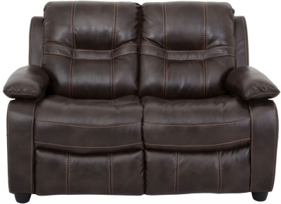 Vida Living Kennedy 2 Seater Pellaria Fixed Sofa - Nappa Brown