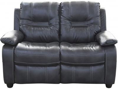 Vida Living Kennedy 2 Seater Pellaria Fixed Sofa - Nappa Grey