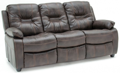Vida Living Kennedy 3 Seater Pellaria Fixed Sofa - Nappa Brown