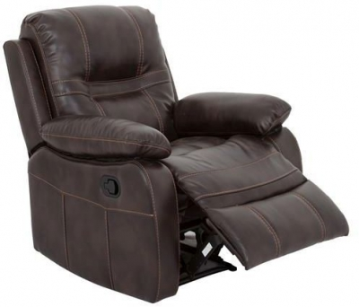 Vida Living Kennedy Pellaria Recliner Armchair - Nappa Brown