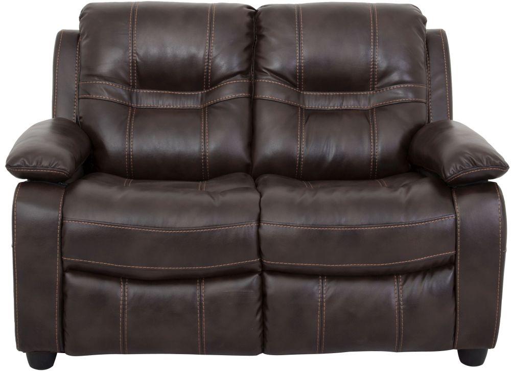 Vida Living Kennedy 2 Seater Pellaria Fixed Sofa - Nappa Brown