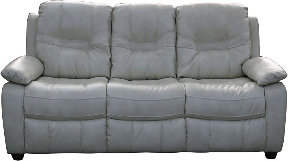 Vida Living Kennedy 3 Seater Pellaria Fixed Sofa - Nappa Ivory