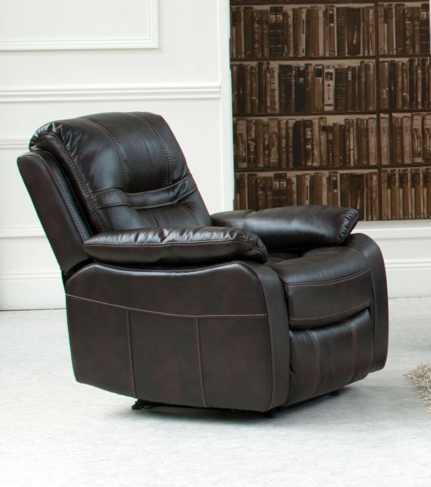 Vida Living Kennedy Pellaria Recliner Armchair - Brown