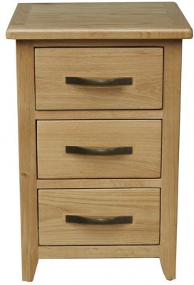 Vida Living Klara Oak Bedside Cabinet - 3 Drawer