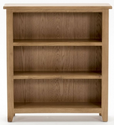 vida living klara oak bookcase low