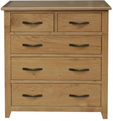 Vida Living Klara Oak Chest of Drawer - 2 Over 3 Drawer Tall