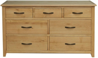 Vida Living Klara Oak Chest of Drawer - 3 Over 4 Drawer