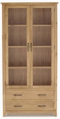 Vida Living Klara Oak Display Cabinet