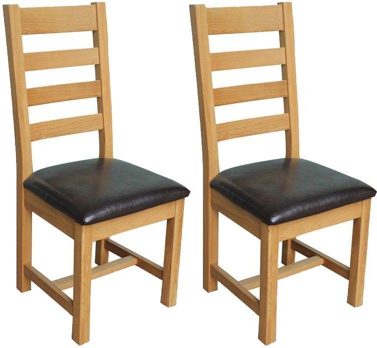 Vida Living Klara Oak Dining Chair - Ladder Back (Pair)