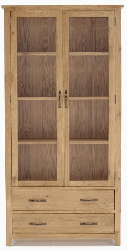 Vida Living Klara Oak Display Cabinet