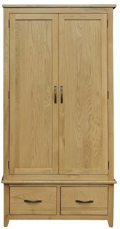 Vida Living Klara Oak Wardrobe - 2 Door 2 Drawer