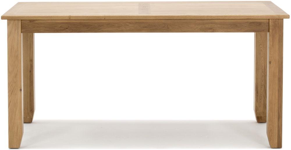 Vida Living Klara Oak 160cm Rectangular Fixed Dining Table