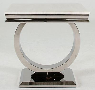 Vida Living Arianna Marble Lamp Table - Low