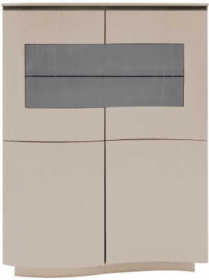 Vida Living Lazzaro Cappuccino Matt Display Cabinet with LED