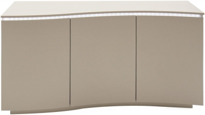 Vida Living Lazzaro Cappuccino Matt Sideboard with LED