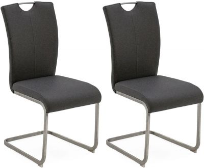 Vida Living Lazzaro Grey Dining Chair (Pair)