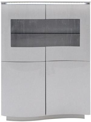 Vida Living Lazzaro Light Grey Matt Display Cabinet with LED