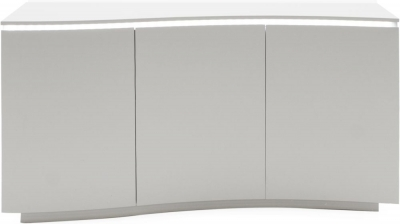 Vida Living Lazzaro Light Grey Matt Sideboard with LED