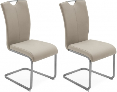Vida Living Lazzaro Taupe Dining Chair (Pair)