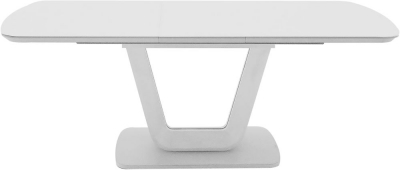 Vida Living Lazzaro 160cm-200cm White High Gloss Extending Dining Table