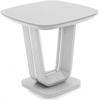 Vida Living Lazzaro White High Gloss Lamp Table