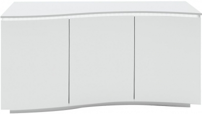 Vida Living Lazzaro White High Gloss Sideboard with LED