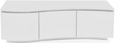 Vida Living Lazzaro White High Gloss TV Cabinet with LED
