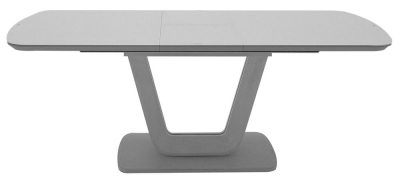 Vida Living Lazzaro 120cm-160cm Light Grey Matt Extending Dining Table
