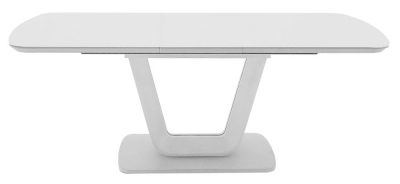 Vida Living Lazzaro 120cm-160cm White High Gloss Extending Dining Table
