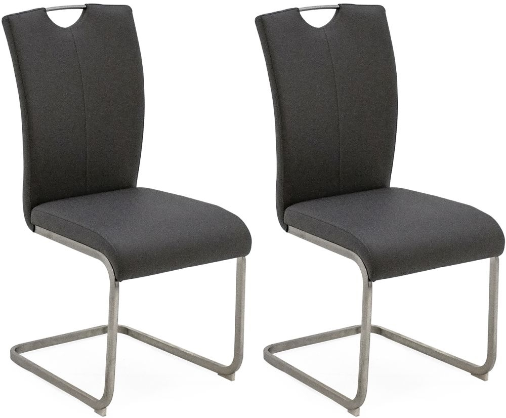 Vida Living Lazzaro Grey Dining Chair (Pair)