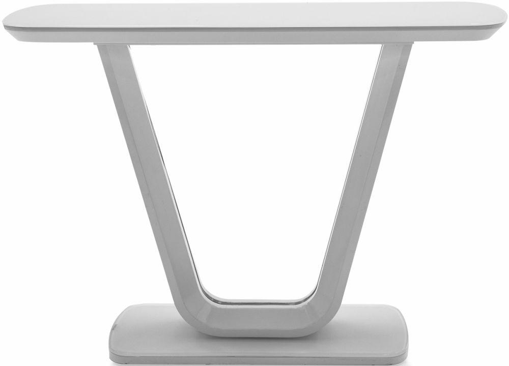 Vida Living Lazzaro White High Gloss Console Table