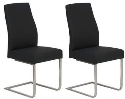 Vida Living Franco Black Dining Chair (Pair)