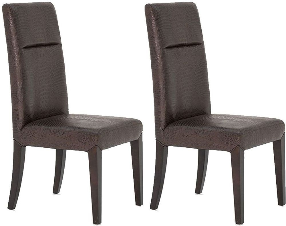 Vida Living Accorso Faux Leather Dining Chair - Brown (Pair)
