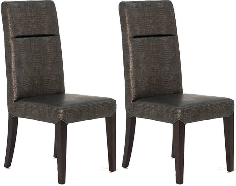 Vida Living Accorso Faux Leather Dining Chair - Grey (Pair)