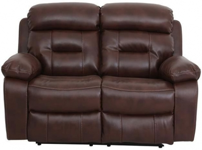 Vida Living Legend 2 Seater Pellaria Recliner Sofa - Tan Brown