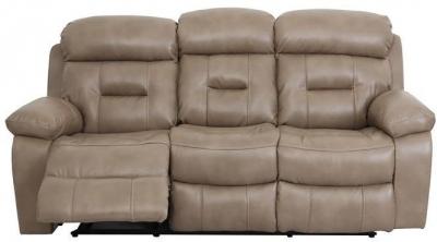 Vida Living Legend 3 Seater Pellaria Recliner Sofa - Nappa Taupe