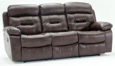 Vida Living Legend 3 Seater Pellaria Recliner Sofa - Tan Brown