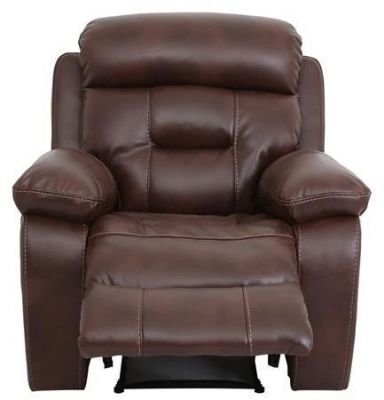 Vida Living Legend Pellaria Recliner Armchair - Tan Brown