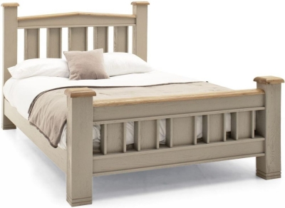 Vida Living Logan Bed - Taupe and Oak Painted