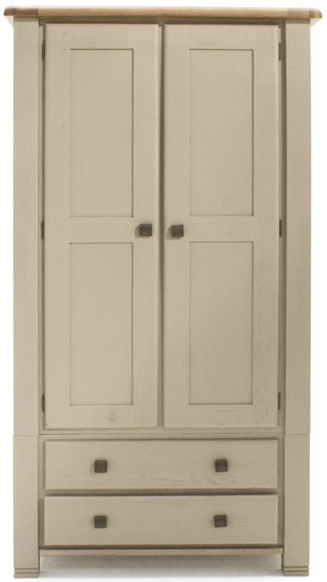 Vida Living Logan Taupe Painted 2 Door 2 Drawer Double Wardrobe