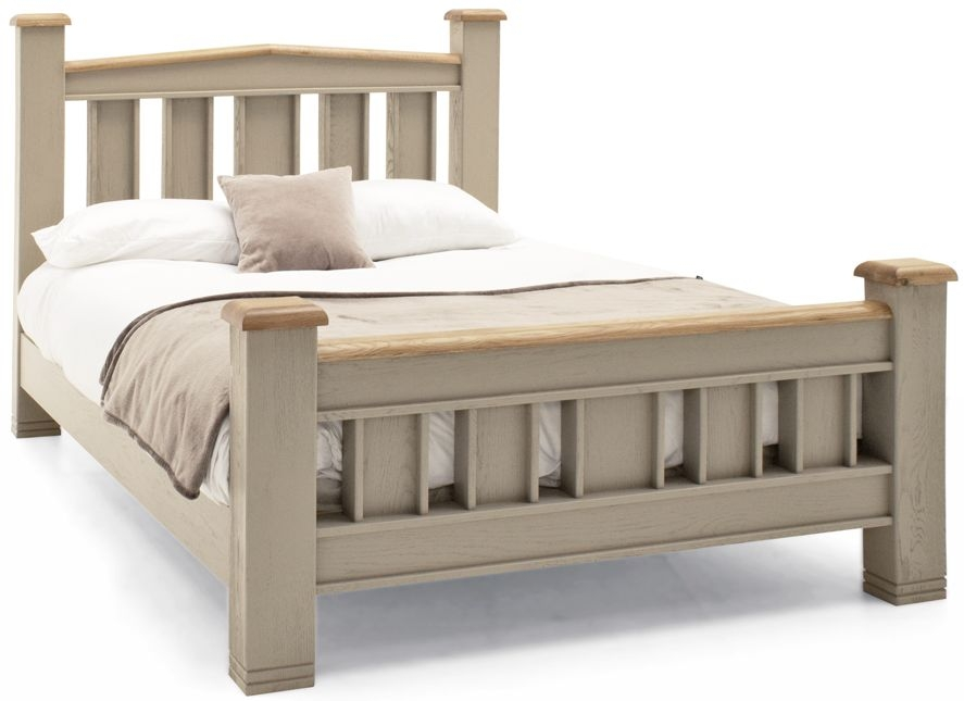 Vida Living Logan Taupe Painted Bed