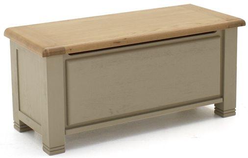 Vida Living Logan Taupe Painted Blanket Box