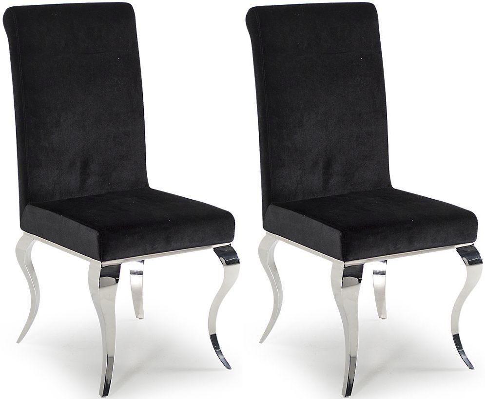 Vida Living Louis Black Dining Chair (Pair)